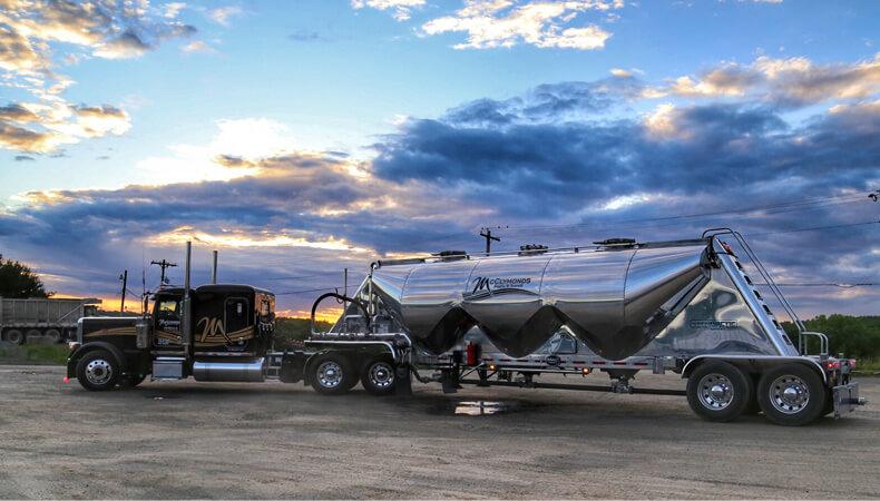 Pneumatic Bulk Tank Trailers | McClymonds Supply and Transit